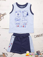 Комплект детский на лето для мальчика майка шорты