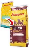 Josera (Йозера) Festival Сухой корм для привередливых собак, лосось и рис в изысканном соусе, 15 кг.