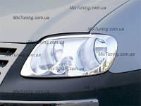 Накладки на фары (окантовка фар) Фольксваген кадди (Volkswagen CADDY), нерж.