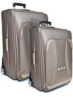 """Комплект чемоданов бизнес класса фирмы """"CCS"""" dark brown 2в1 на 2-х колесах"""