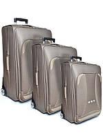 """Комплект чемоданов бизнес класс фирмы """"CCS"""" light brown комплект 3в1 на 2-х колесах"""