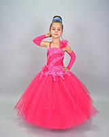 Яркое платье для девочки из красивой жаккардовой ткани от украинской ТМ Модна Анка, г.Одесса