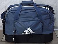 Спортивная сумка Adidas(копия) 0563 с отделом для обуви серая