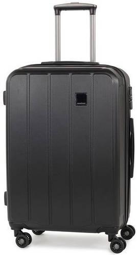 Удобный пластиковый 4-колесный чемодан 62 л. Members Nexa (M), 922797 черный
