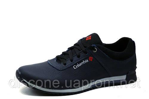 Туфли спортивные мужские Columbia, кожаные, синие, р.  40 45