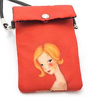 Аккуратный детский кошелек для ношения на шее Девочка Б/Н art. 27-05