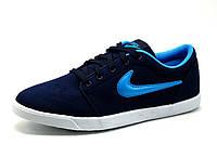 Кроссовки Nike, мужские, темно-синие с голубым, р. 41 42 43 44 45 46, фото 1