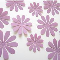 Цветы 3D декор лавандовые (маленькие)