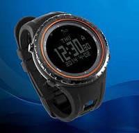 Спортивные часы FR801B – водозащита 5АТМ, шагомер, калории, термометр, барометр, альтиметр, компас. Оранжевый