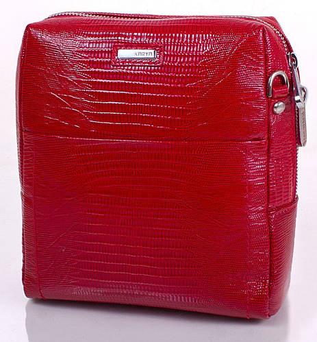 Трендовая женская кожаная сумка-клатч KARYA (КАРИЯ) SHI0693-1LAZ (красный)