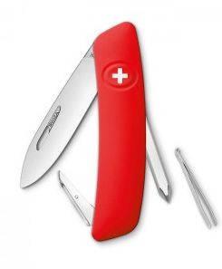 Многофункциональный швейцарский нож, 4 предмета SWIZA D02 (201000), красный