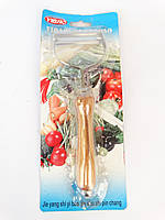 Нож для чистки овощей с деревянной ручкой