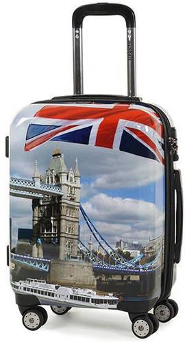 Оригинальный  пластиковый 4-колесный чемодан 34 л.Square Mile (S) Day, 922617 разноцветный