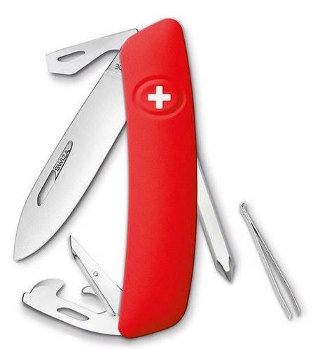 Самый лучший швейцарский раскладной нож, 11 функций SWIZA D04 (401000), красный