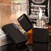 """Благородная зажигалка в черном цвете на подарок """"ZIPPO"""" 218ZL"""