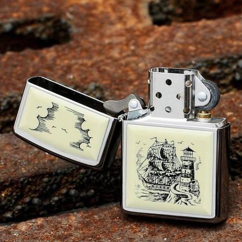 """Безупречная зажигалка для стильного мужчины """"ZIPPO"""" 359 серебристый"""
