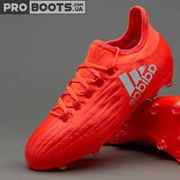 Детские футбольные бутсы Adidas X 16.1 FG Junior Red