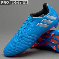 Детские футбольные бутсы Adidas MESSI 16.3 FG Junior Royal