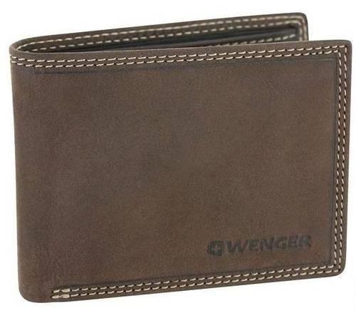 Удобное портмоне без застежки, кожаное Wenger 5-21DB коричневый