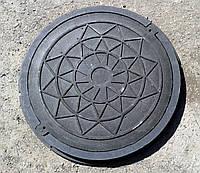 Люк садовый пластиковый черный