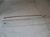 Браслет под золото длина с застежкой 22,5 см.