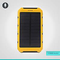 Портативный аккумулятор на солнечной батарее 15000 mAh