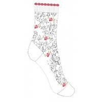 Детские носки для девочки белые ажурные с цветочками