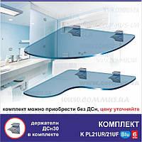 Стеклянные угловые полки Commus PL K 21UR/21UF/Blu/6mm