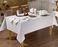 Скатерть прямоугольная Tabe Collection Honey Beyaz(160х220 см)