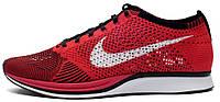 Мужские кроссовки Nike Flyknit (найк флайнит) красные