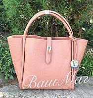 Женская сумка Fendi Фенди с косметичкой персиковая