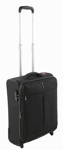 Облегченный малый тканевый 2-колесный чемодан 42/48 л. Roncato IRONIC 5103/01 черный