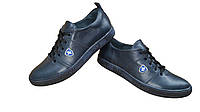 Качественные мужские кожаные кроссовки от производителя 2 цвета