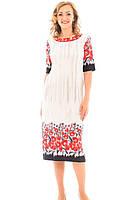 Платье увеличенного размера в цветы, фото 1