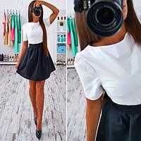 Платье классическое с пышной юбкой мини SMs552