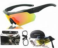 Тактические очки ESS Crossbow 5 линз, черная оправа, вставка для диоптрий