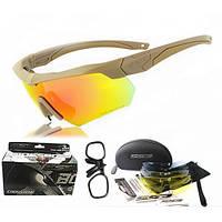 Тактические очки ESS Crossbow 5 линз, оправа тан, вставка для диоптрий