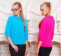 Женская блузка из креп-шифона с рукавом три четверти