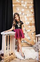 Детское платье с паетками на трикотаже