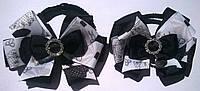 """Бантики резинках для школы """"Отличница"""" цвет белый и черный"""