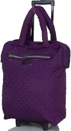 Фиолетовая дорожная сумка на 4-х колёсах ETERNO TU9331-violet фиолетовый