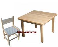 Детский столик и растущий стул (дерево)