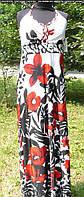 Женское трикотажное  платье сарафан с цветочным принтом для беременных  Милана  размеры  44, 46, 48  белое