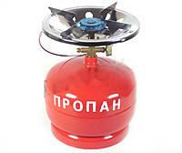 Газовый баллон с горелкой (комплект) кемпинг 5л