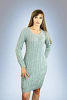 Платье женское вязаное Кэти  светло - серое