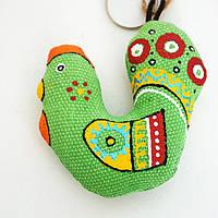 Брелок Зеленый Петушок. Подарок в год Петуха