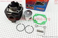 Цилиндр 65 сс - 44 мм  палец 10 мм в сборе для китайских скутеров 2т ТВ  цепной вариатор