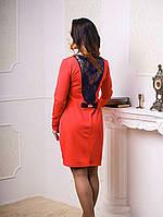 Женское платье  для беременных нарядное  из трикотажа Анабела размеры  44, 46, 48  коралловое