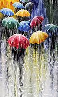 """Алмазная мозаика """"Дождь в городе"""", картина стразами 40*50см"""