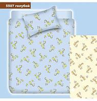 Комплект постельного белья Вилюта детское ранфорс 5507 голубое